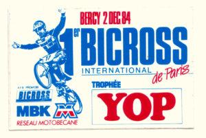 1984 - Bercy - Stickers Cobranding MBK - Reseau Motobecane