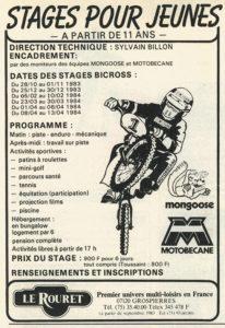 BXM14 - Nov 83 - Pub Stage Le Rouret